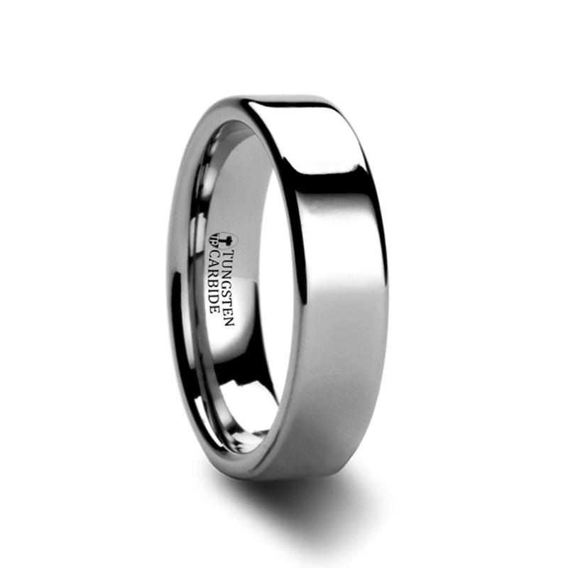 ATHENA-Pipe Cut Tungsten Carbide Tungsten Ring – 4mm & 6mm