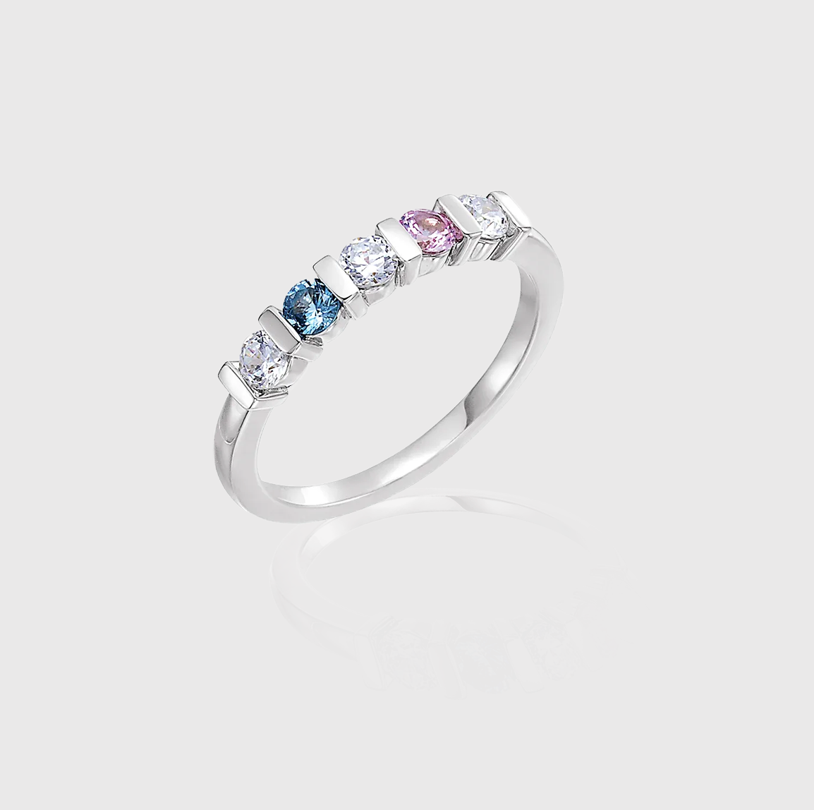 In the Band Staccato Five-Stone Family Ring