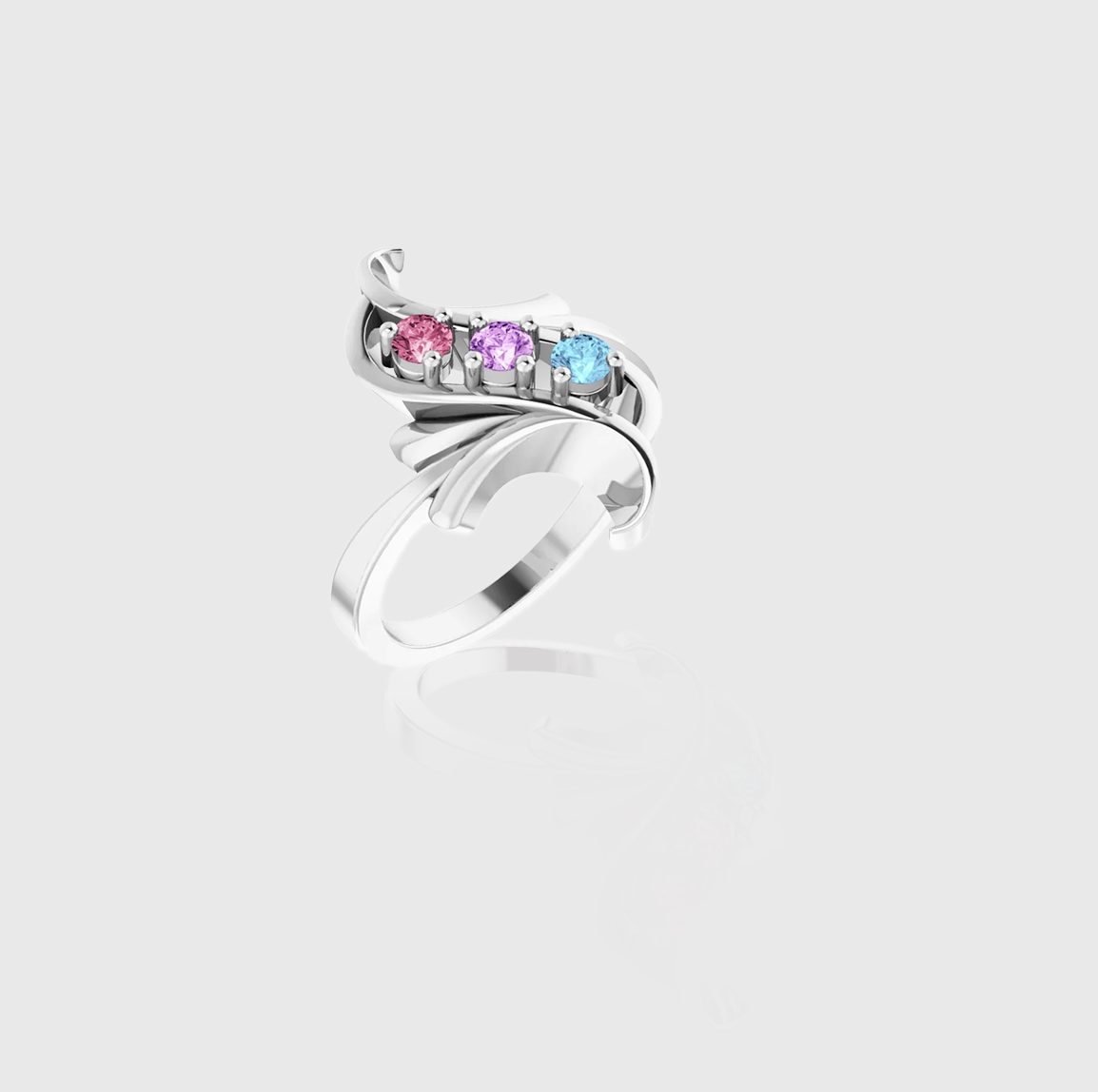 Freeform Flow Seven-Stone Family Ring