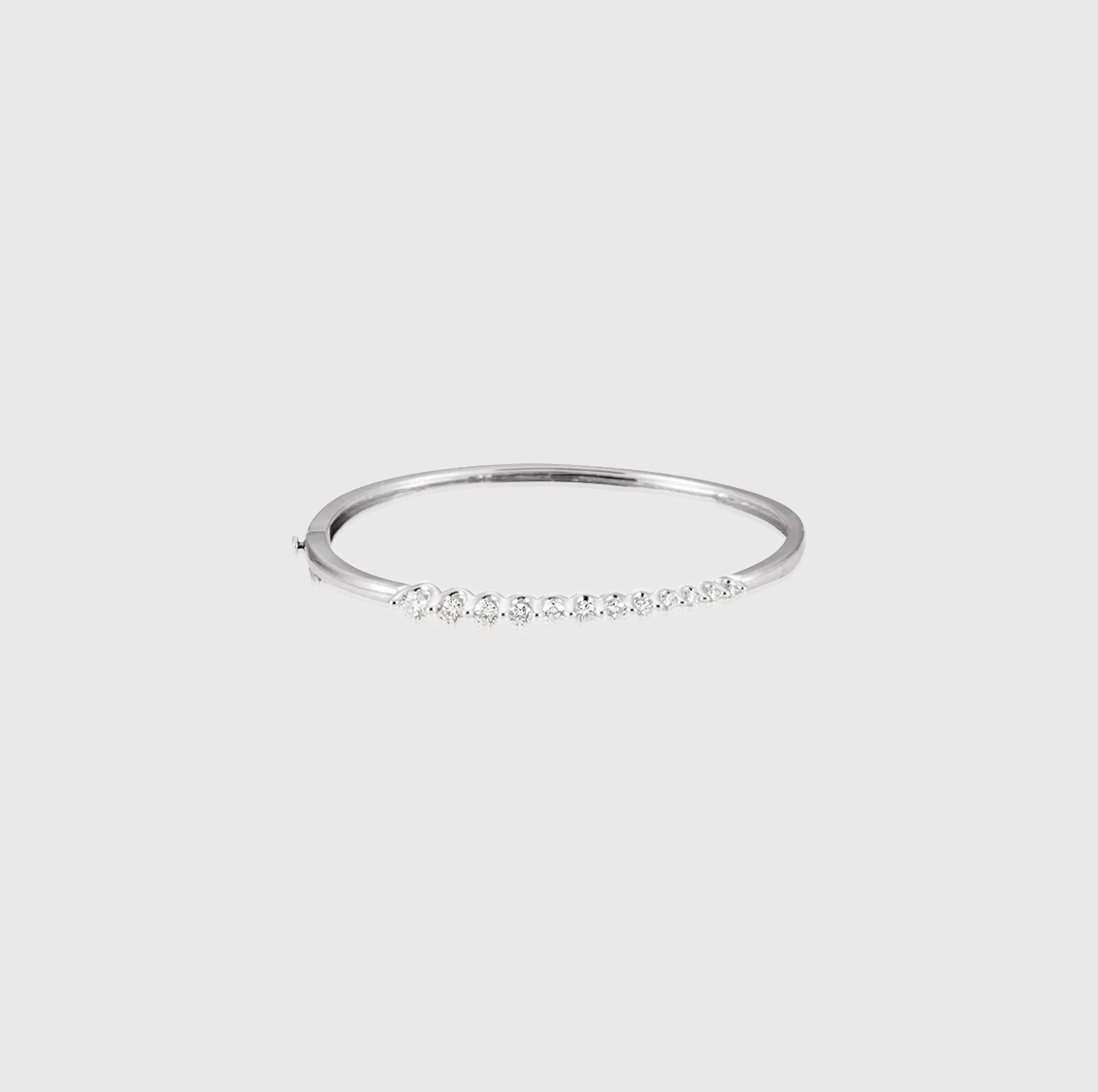 On a Journey Diamond Hinged Bangle