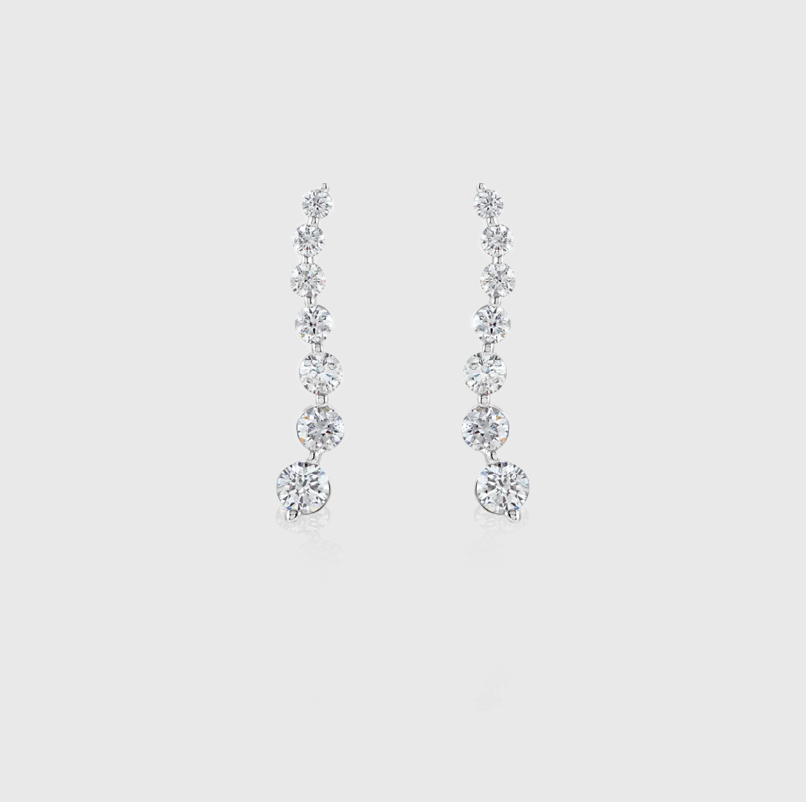 On a Journey Diamond Earrings