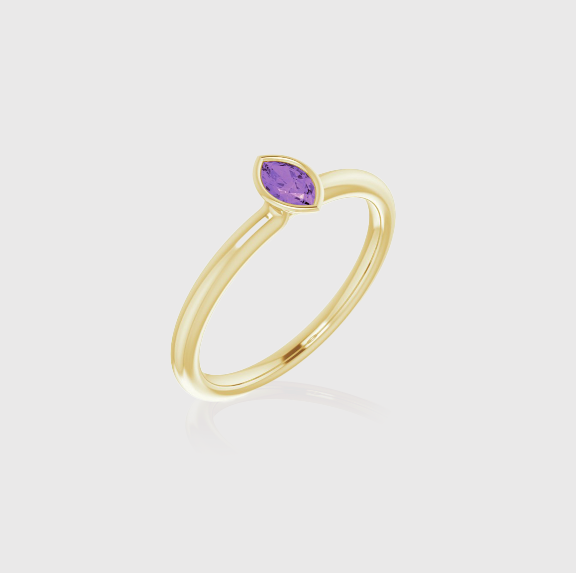 Stack it Up Amethyst Solitaire Stackable Ring