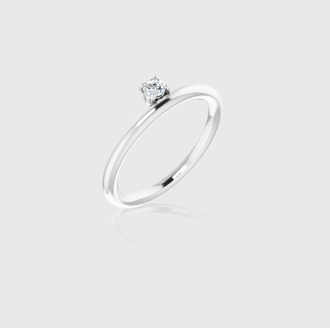 Stack it Up Diamond Solitaire Stackable Ring