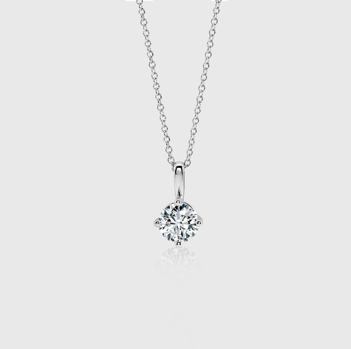 Classic Diamond Solitaire Necklace